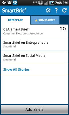 SmartBrief app screenshot