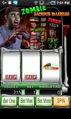 Zombie Jackpot Madness Android app screenshot
